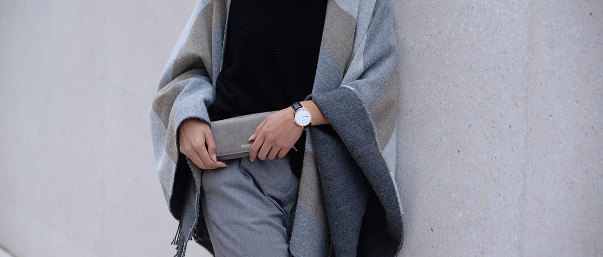 Geldboerse Portemonnaie Leder schwarz grau XL Handyfach