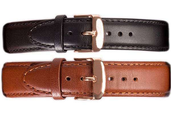 Detail-Armbanduhr-Wechselarband-braun-schwarz-front-2
