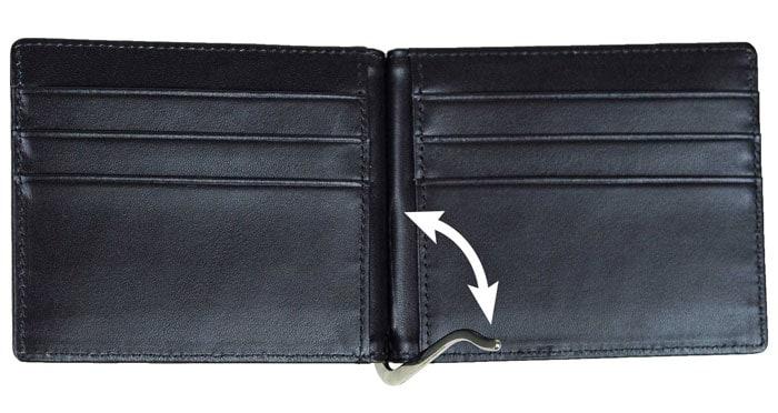 Herren Geldbörse mit Geldklammer