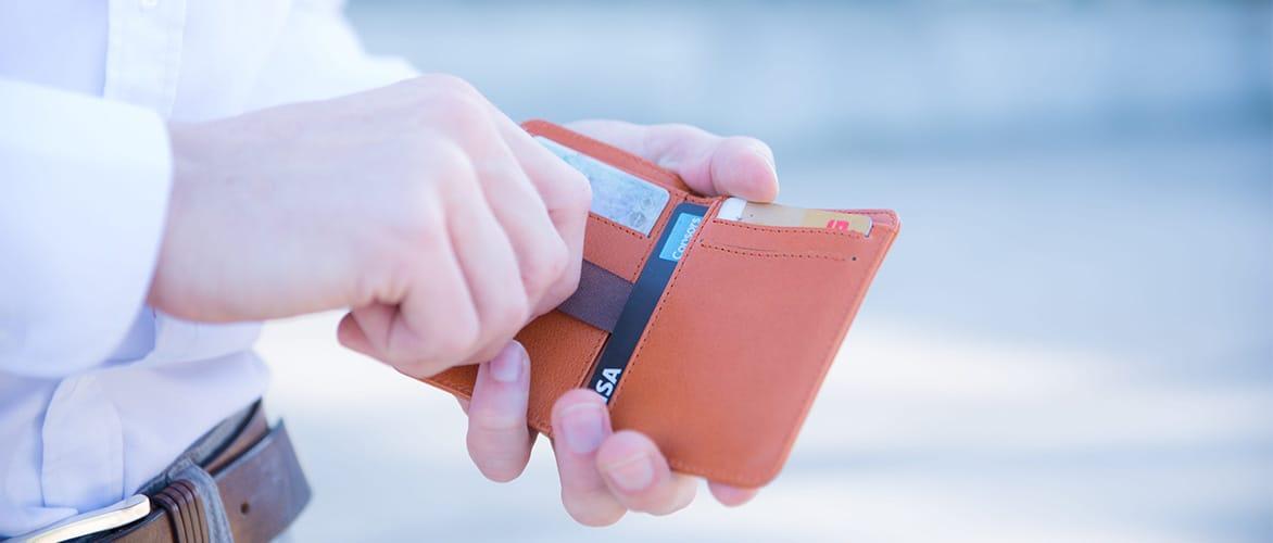 Slim Wallet kleine Geldboerse Leder Kartenhalte Muenzfach