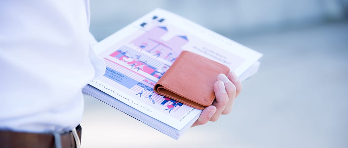 Slim Wallet kleine Geldboerse Leder Kartenhalte Muenzfach Urban Muenster