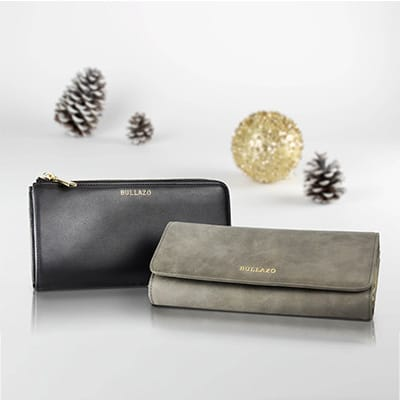 Woman Ladies Wallet black grey